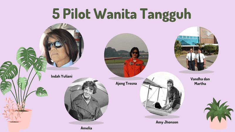 5 Pilot Wanita Tangguh