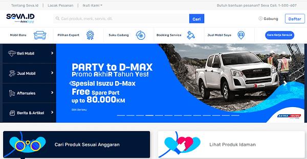 Web SEVA Tempat Mobil Online