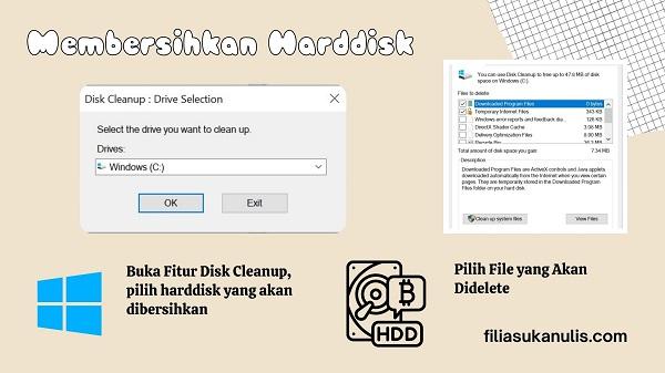 Bersihkan Harddisk untuk Peningkatan Performa Windows 10